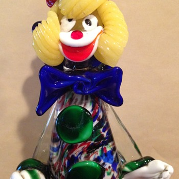 "10"" glass clown"