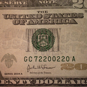 20 dollar bills - US Paper Money