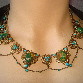 Antique Austro-Hungarian Turquoise Necklace - Fine Jewelry