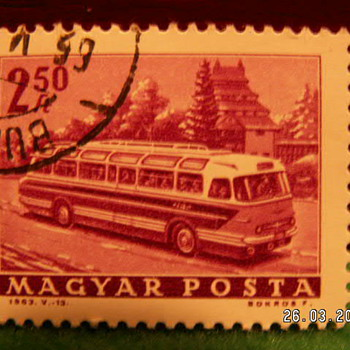 Vintage Magyar Posta 2 50Ft Stamp ~ Used - Stamps