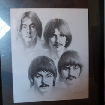 Beatles Black and White 20x24 - Posters and Prints