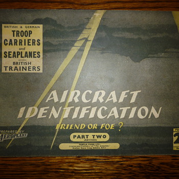 WWII Aircraft Identification book (part two)
