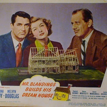 Mr. Blandings Builds His Dream House Original Lobby Cards 1938 Cary Grant Myrna Loy - Movies