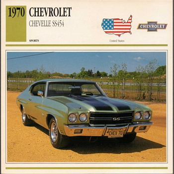 Vintage Car Card - Chevrolet Chevelle SS