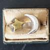 Silver Sun & Brass Moon Ring