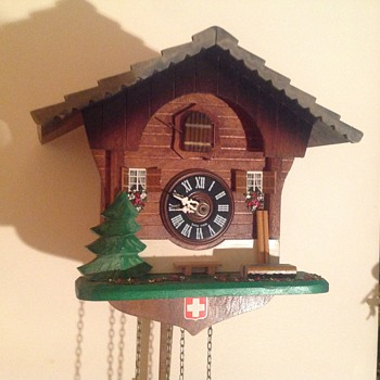 1980's Swiss Regula chalet cuckoo clock.