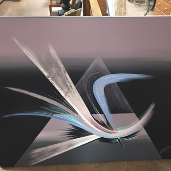 Very Large Lee Reynolds Abstract Painting - Visual Art