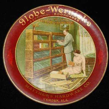 Globe Wernicke Advertising Tray - Advertising