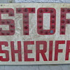 Sheriff Stop sign