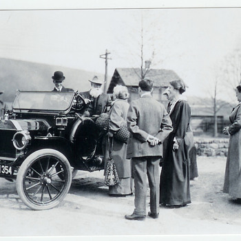 1914 NY License Plate 71354 Old Original Negative Photograph Picture Henry Ford Automobile Model T