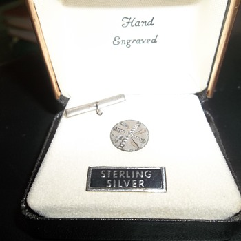 Cuff Link or Tie Tack - Sterling Silver