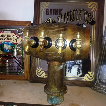 Brass and copper beer tap and dispensor