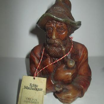 Vintage German Wax Sculpts -  Kathe Wohlfahrt & Lechner Alpine Manufacture - Figurines