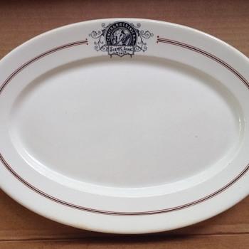 "Denver & Rio Grande RR 11.5"" oval plate"