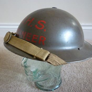 British WWII Engineer's steel helmet