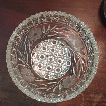 Cut Glass and Etched Bowl