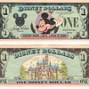 5- $1.00 Disney Dollars