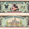 5- $1.00 Disney Dollars