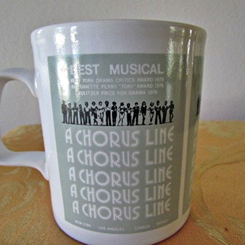 Original A Chorus Line Coffee Mug circa 1976 - Advertising