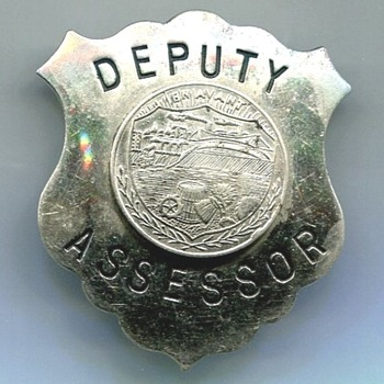 Hayward Wisconsin Deputy Assessor Badge - Medals Pins and Badges