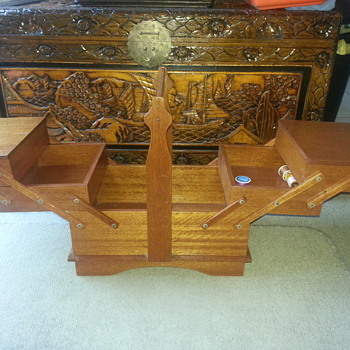 CANTILEVER SEWING BOX 1930'S?