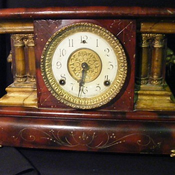 Wm. L. Gilbert Clock Co. Balckbird Mantle Clock - Clocks