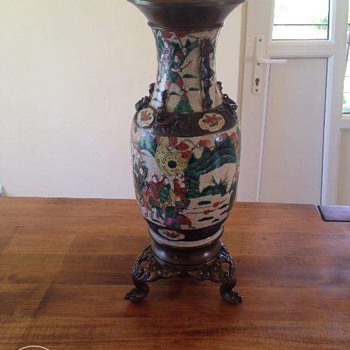 My lovely chinese vase in porcelain and brass