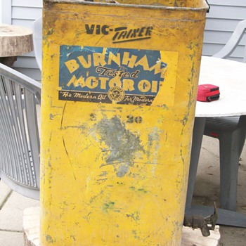 Burnham tested Motor Oil oil drum