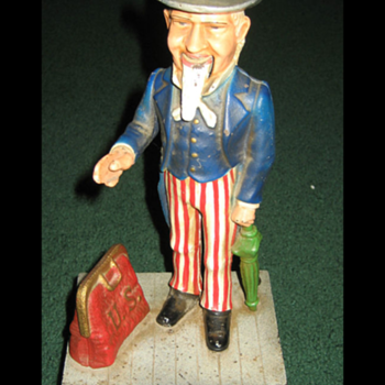 Uncle Sam Coin Bank  - Coin Operated