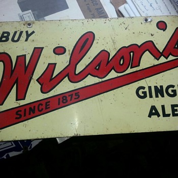Wilson's Ginger Ales