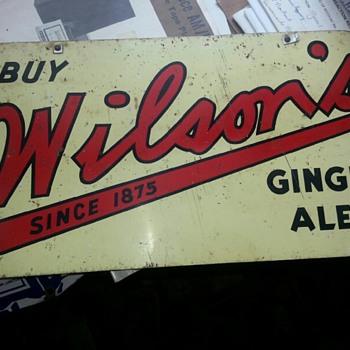 Wilson's Ginger Ales - Advertising