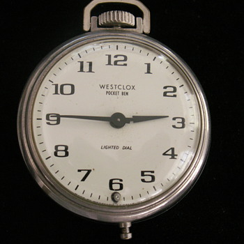 Westclox Pocket Ben Lighted Dial - Pocket Watches