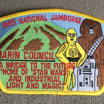 "Boy Scouts 1993 National Jamboree ""STAR WARS"" Marin County Patch - Medals Pins and Badges"