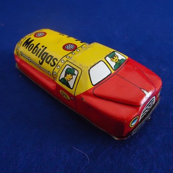 1950's Japan Friction Mobil Gas toy