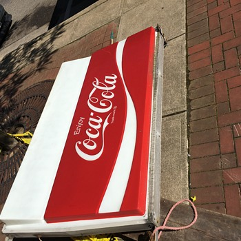 restaurants outdoor coca cola sign - Signs