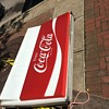 restaurants outdoor coca cola sign