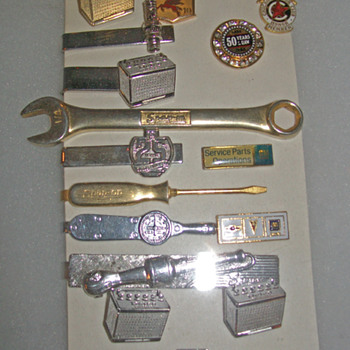 Pins cuff links and tie tacks