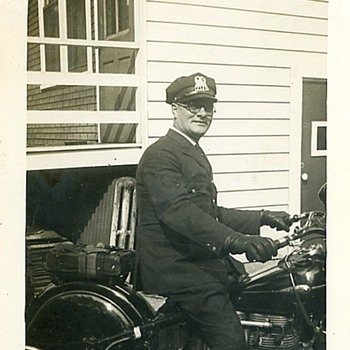 1945 Motorcycle Cop & Indian Inline 4 Cyl.