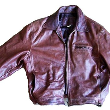 COCA COLA + OLYMPICS (World Wide Partners) -- Leather Jacket - Mens Clothing