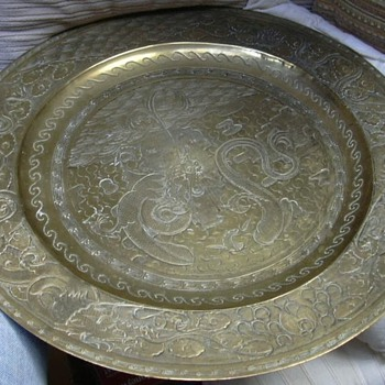 Oriental Brass Charger - 1920s or possibly older...Value? Origin? Maker? - Asian