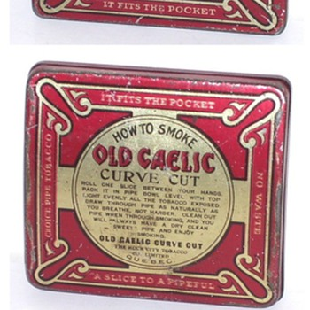 old gaelic curve cut  pipe tobacco rock city  quebec  - Advertising