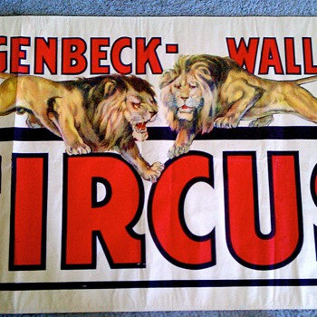 Original 1938 &quot;Hagenbeck Wallace&quot; Stone Lithograph Poster - Posters and Prints