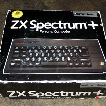 1984-vintage sinclair spectrum plus computer.