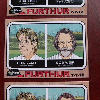 Further Concert handout Cards that look like 1968 Topps Baseball Cards - Music