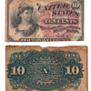 10 cent fractional 10 cent bill 1863