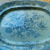 Wedgwood blue white antique oval serving platter Asiatic Pheasants