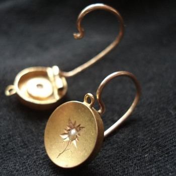 Unusual Gold Earrings - Fine Jewelry