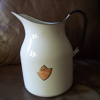 GSW Opal Enameled Ware Pitcher