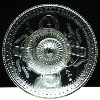 Adams & Co. Good Luck Horseshoe cake stand collection - Glassware