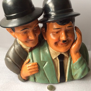 Laurel and hardy pottery